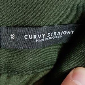 LOFT Pants & Jumpsuits - NWT Loft curvy straight dark green pants